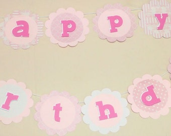 Flowers Happy Birthday Banner