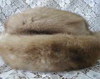 Autumn Haze Mink Hat....Vintage Mink Hat in Autumn Haze