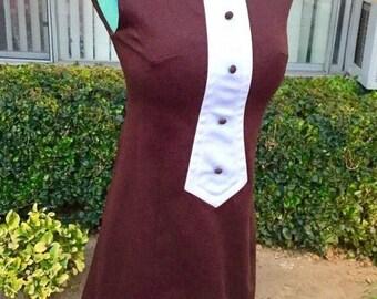 Vintage Mod Twiggy style dress by designer/dress-maker Liz-Beth designs 60's