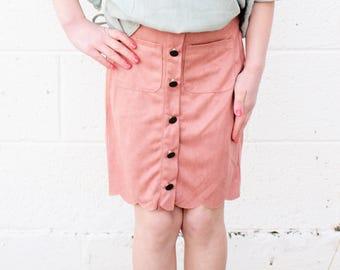 Tween Meg suede Skirt
