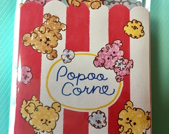 Kawaii Poodle Popcorn Notepad