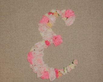 Coming Up Roses Floral Letter E--Ready to Ship!
