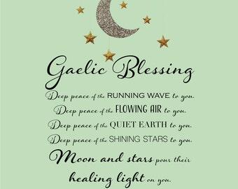 Gaelic Blessing canvas wall art