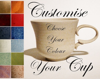 CUSTOM HANDMADE CUP Personalised Coffee Cup / Tea Cup, Certified Artist Made Stoneware, Personalised Gift Handmade Pottery