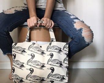 Canvas Tote Bag, Tote bag, Market Tote bags, Ducks tote Bags