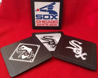 4 piece coaster set. Chicago White Sox.  Keep as a set, or mix and match!