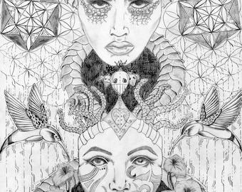 Duality Twins , FineArtPrint