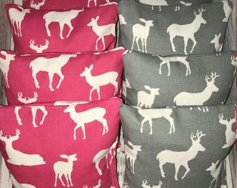Deer print Corn Hole Bags