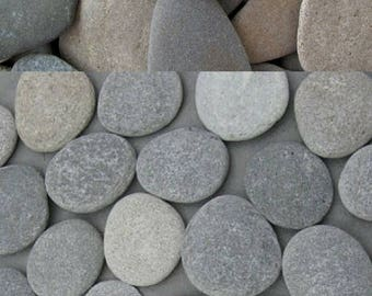 Flat beach stones etsy for Where to buy flat rocks for crafts