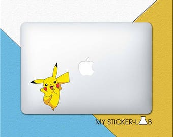 Pikachu MacBook Decal Pikachu MacBook Sticker Pikachu Sticker Pokemon Pikachu Decal Pikachu Pokemon Sticker Pokemon MacBook Decal bn088