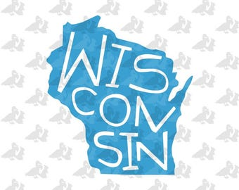 Wisconsin State Pride Single Color Decal Sticker