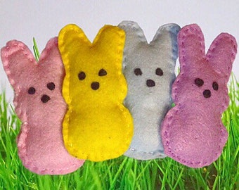 Catnip Cat Toy. Peeps Inspired. Easter. Spring. Felt.