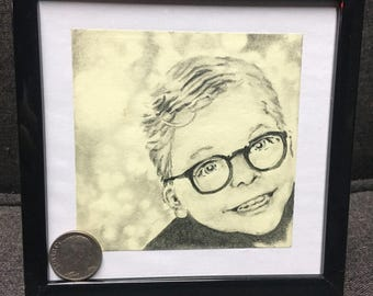 A Christmas Story / post it note art