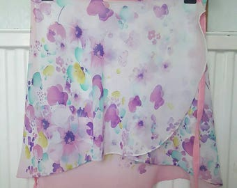 Spring florals chiffon ballet skirt