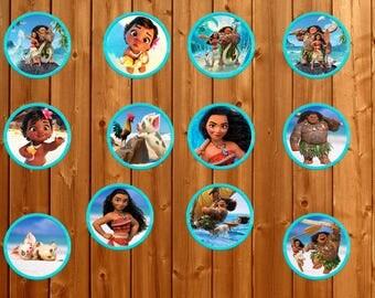 Moana Toppers, Moana Cupcake Toppers, Moana birthday, Moana Cake Toppers, Moana Party, Moana Decorations, Instant dowload, Printables, Maui