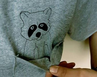 Case of the Mondays Middle Finger Raccoon Tee