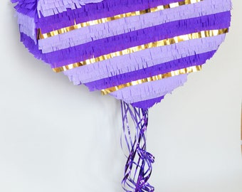 Purple fancy heart Piñata