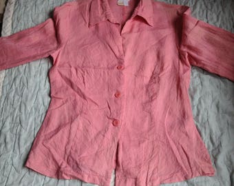 Authentic ZARA Pink Made in Spain Woman Casual Shirts Top Blouse Cardigan Coat