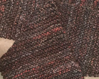 """the """"Abbie"""" shall-scarf in black tweed"""
