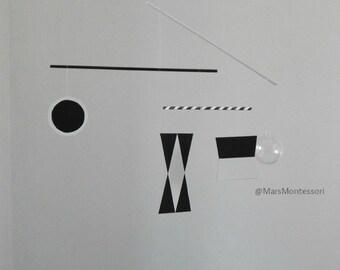 Montessori Görsel Mobil / Dönence Serisi: Munari Mobil Şablonu (Türkçe) 60 - 70 mm