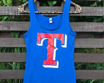 Texas Rangers tank top