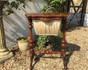 Victorian Sewing Work Table