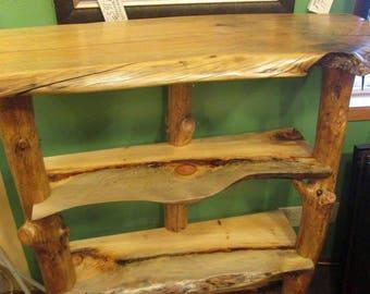 Rustic Shelves, Log Shelves, Hallway Shelves, Rustic pantry shelves, Shelf, log shelf