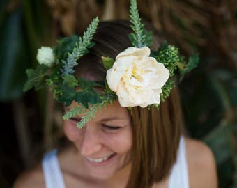 Flower Crown, handmade silk flowers