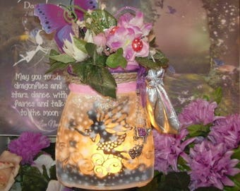 FREE POSTAGE {Australia only} Captured Fairy Jar
