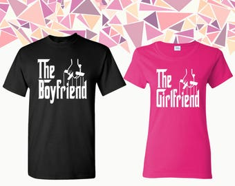 The Girlfriend The Boyfriend T-shirts Girlfriend Boyfriend Shirts Tees Couple T-shirts Couple Shirts Couple Tees Gift For Couple