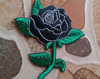 Black rose patch.
