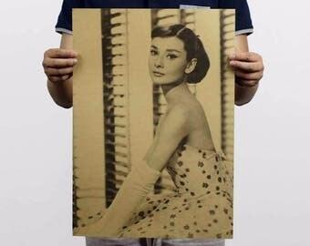 Audrey Hepburn - Vintage Photograph Poster Print, BreakfastTiffany's