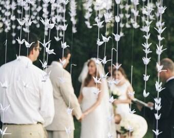 5000 White origami paper cranes - wedding decor - party decor ...
