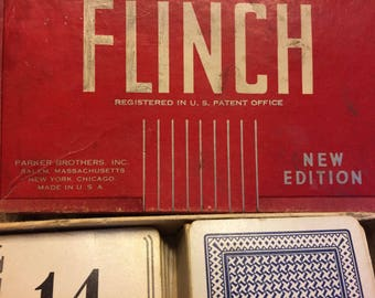 Vintage Game Parker Brothers Flinch Card Game 1930's