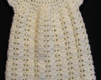Crochet Cream Dress