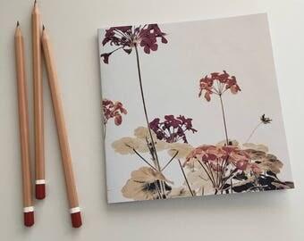 Geranium notebook