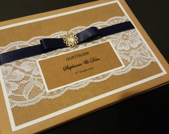 Vintage Lace Wedding Guestbook