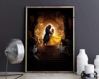 Beauty and the Beast Emma Watson Belle Disney Princess Princess Belle Belle and Beast Belle Poster Disney Poster Disney Print Disney Photo