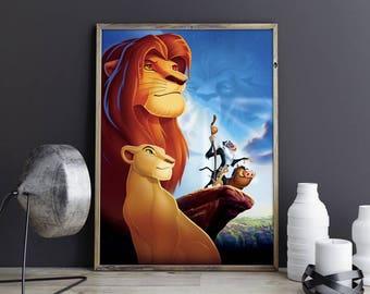 The Lion King Art Lion King Wall Art Lion King Wall Decor Lion King Photo Lion King Print Lion King Poster Walt Disney Poster Disney Print