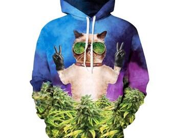 2017 cat money Hoodie High quality gift creative Hooded Sweatshirt 2017 New Jacket Winter Superhero gift zipper