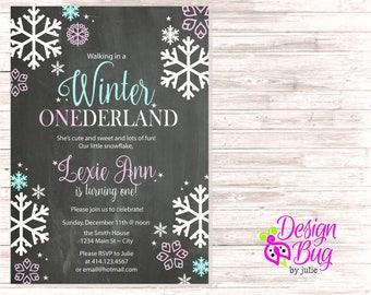 Winter Onederland Birthday Invite