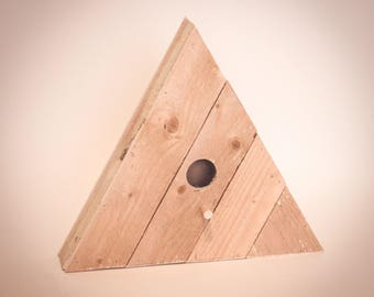 Reclaimed Wood Birdhouse - Triangle