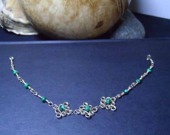 Alpaca flowers bracelet