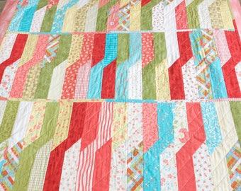 Handmade patchwork quilt 100% cotton