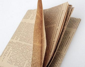 2 x vintage wrapping paper newspaper