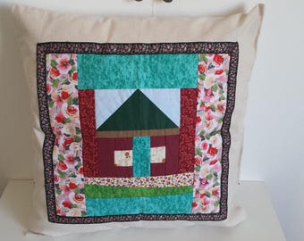 40 x 40 patchwork Cushion cover