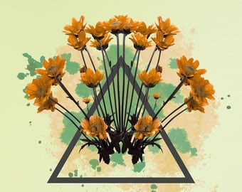 Triangle flowers