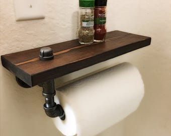 Iron pipe paper towel holder