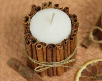 Cinnamon candle, paraffine, eco candle, candle decore, eco friendly candles, kitchen decore, beach decore, wedding candle, C-001