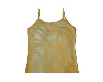 Citrus Spiral Cotton Tie Dye Large Tank